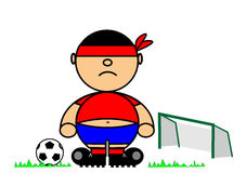 Kiki footballer Royalty Free Stock Photography