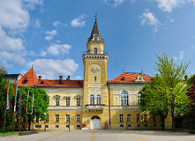 Kikinda city hall. Kikinda town Serbia city hall landmark architecture Royalty Free Stock Photo
