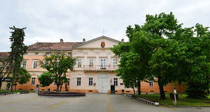 Kikinda city museum. Kikinda town Serbia museum facade landmark architecture Stock Photos