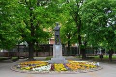 Kikinda town statue. Kikinda town Serbia memorial statue landmark architecture Royalty Free Stock Image