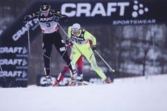 Kikkan Randall - amerikanischer Querland-Skifahrer Lizenzfreie Stockbilder