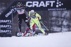 Kikkan Randall - esquiador americano del país cruzado Imágenes de archivo libres de regalías