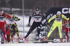 Kikkan Randall - gagnant de sprint de ski de Liberec 2011 photo libre de droits