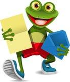 Kikker met een brief stock illustratie