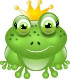 Kikker met kroon Royalty-vrije Stock Fotografie