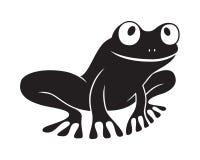 Kikker zwart pictogram royalty-vrije illustratie