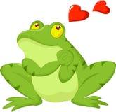 Kikkerbeeldverhaal in liefde Stock Foto