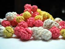Kikkererwt gekleurd suikergoed Stock Foto