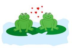 Kikkers in liefde Royalty-vrije Stock Afbeeldingen