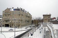 Kikkervierkant in Rijeka, Kroatië Stock Afbeelding