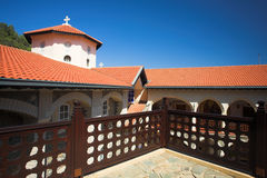 Kikkos Monastery in moutains of troodos Royalty Free Stock Photo