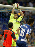 Kiko Casilla of RCD Espanyol Royalty Free Stock Photography
