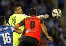 Kiko Casilla of RCD Espanyol Stock Photo