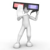 Kiko con los vidrios 3D Imagen de archivo libre de regalías