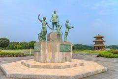 Kikuchi城堡onkosousei纪念碑 库存图片