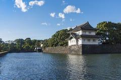 Kikyo-mon gate and Tatsumi-yagura imperial palace grounds Tokyo royalty free stock image