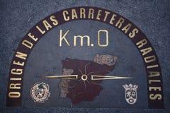 Kilómetro 0 Foto de archivo libre de regalías