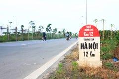 Kilómetro ha Noi el 12km del MAR Fotos de archivo