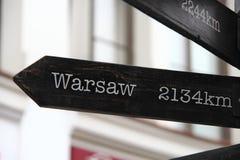 2134 kilómetros a Varsovia Fotos de archivo libres de regalías