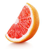 Kil av citrusfrukt för rosa grapefrukt som isoleras på vit Arkivfoto