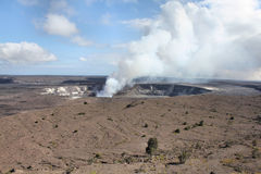 Kilaeua火山在夏威夷 免版税库存图片