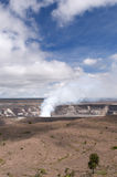 Kilaeua volcano, Big Island, Hawaii. Plume of steam and sulfur gas, active eruption inside Halemaumau Crater of the Kilaeua volcano, Big Island, Hawaii Stock Photo