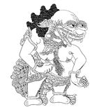 Kilatmeja. A character of traditional puppet show, wayang kulit from java indonesia vector illustration