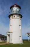 Kilauea在考艾岛海岛上的灯塔驻地 免版税库存照片