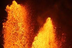 Kilauea火山的火山爆发在夏威夷 免版税库存照片