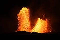 Kilauea火山的火山爆发在夏威夷 免版税库存图片