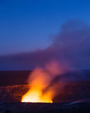 Kilauea火山破火山口 库存照片