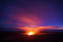 Kilauea火山破火山口 库存图片