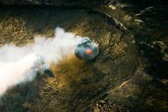 Kilauea火山Pu'u 'O'o夏威夷火山国家公园 库存照片
