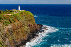 Kilauea灯塔 免版税图库摄影