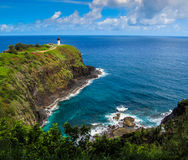 Kilauea灯塔 免版税库存照片