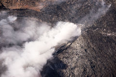 Kilauea угрожает домов Гаваи Стоковая Фотография RF