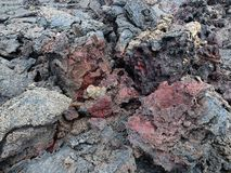 Ηφαίστειο Kilauea, ροή λάβας του 1974 στο μεγάλο νησί, Χαβάη Στοκ Εικόνες