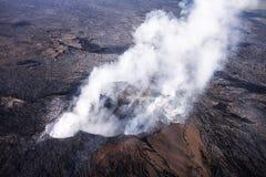 Kilauea威胁夏威夷家 免版税库存照片