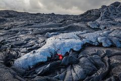 Active volcano. Kilauea Active Volcano on Big Island, Hawaii Stock Image