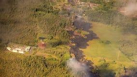 Kilauea amenaza a los hogares de Hawaii Imagen de archivo libre de regalías