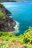 Kilauea Bay coast in Kauai, Hawaii Royalty Free Stock Photos