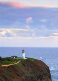 Kilauea Bay lighthouse Stock Photography