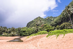 Kilauea Beach in Kauai, Hawai Royalty Free Stock Images