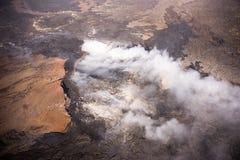 Kilauea bedreigt de Huizen van Hawaï Royalty-vrije Stock Foto