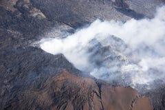 Kilauea bedroht Hawaii-Häuser stockfotos