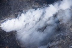 Kilauea bedroht Hawaii-Häuser lizenzfreie stockfotografie