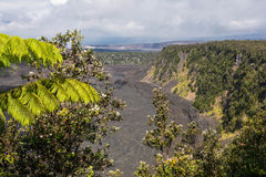 The Kilauea Caldera in Big Island, Hawaii Stock Photo