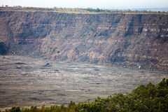 Kilauea Caldera, Big Island, Hawaii. Section of large volcanic crater in volcanically active area of the Big Island Royalty Free Stock Photos