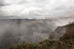 Kilauea Caldera in Big Island, Hawaii. View of the smoke from  Kilauea Caldera in Big Island, Hawaii Stock Photos