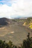 Kilauea caldera i den stora ön, Hawaii arkivbilder